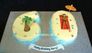 60th Beach Cake