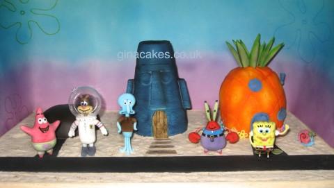Spongebob Squarepants Bikini Bottom Cake