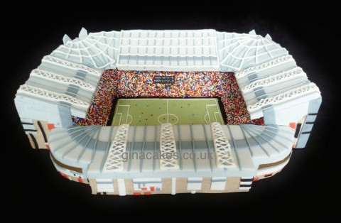 Old Trafford Manchester United Stadium Cake