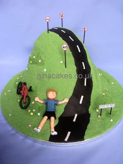 40th Birthday Cycling Cake