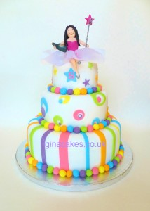 Girls 18th Candy Stripe Cake