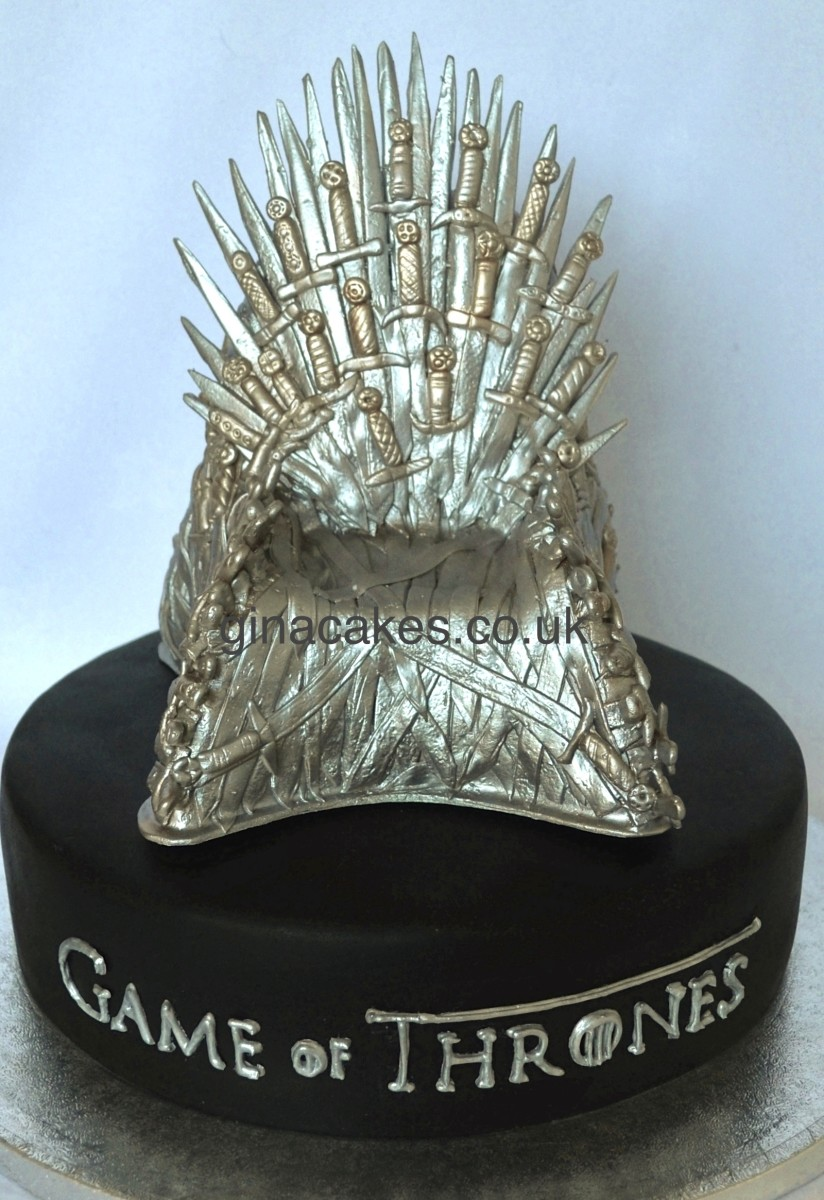 Game of thrones chair cake -