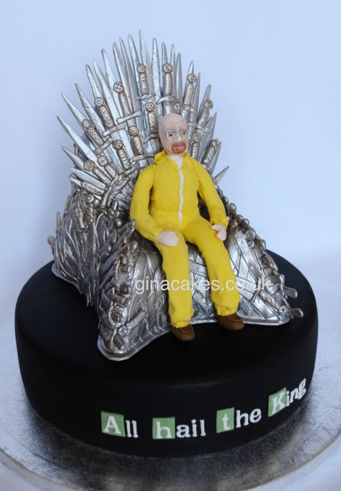 Game Of Thrones Iron throne - Walter White cake