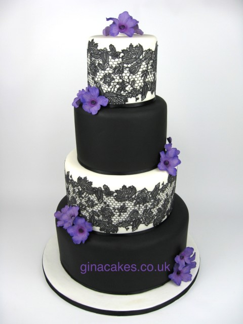 Awesome Purple And Black Wedding Cake Pictures - Styles & Ideas 2018 ...