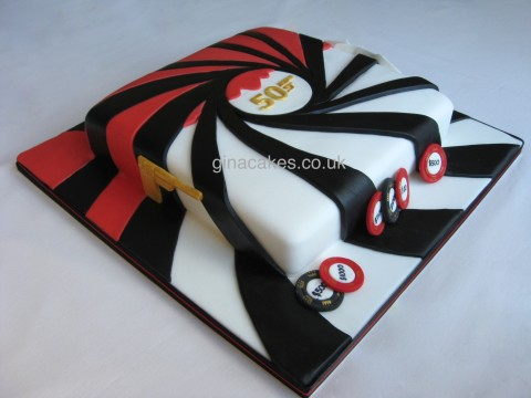 James Bond Casino Cake