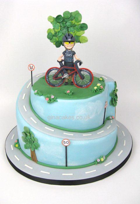 50th Birthday Cyclist Cake