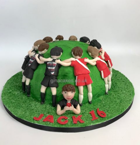Rugby Scrum 16th Birthday Cake