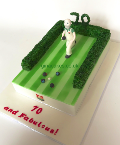Lawn Bowls 70th birthday cake