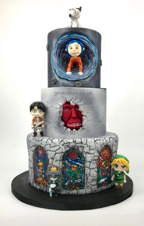 Pleasing Birthday Cakes Archives Gina Molyneux Cake Artistry Funny Birthday Cards Online Inifodamsfinfo