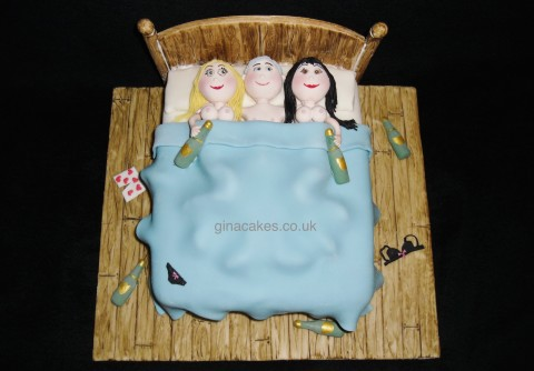 Three In A Bed Cake